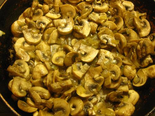 Макаронная запеканка с грибами