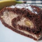Шоколадный рулет с банановым кремом
