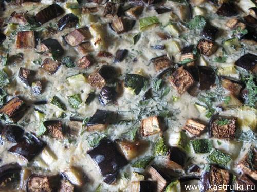 Запеканка с баклажанами и кабачком