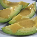 Авокадо с горчичным соусом