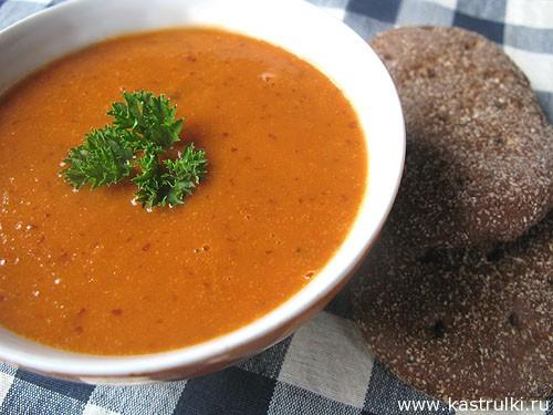 Томатно-фасолевый суп-пюре