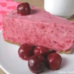 Вишневый творожный торт (без выпечки)