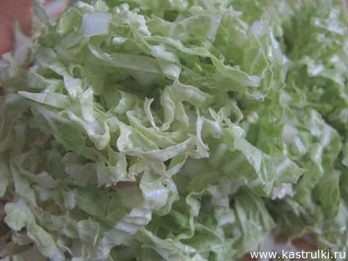 Салат из пекинской капусты и фасоли