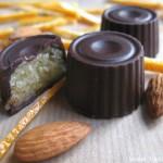 Шоколадные конфеты с апельсиновым марципаном