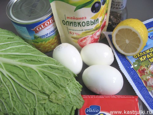 Салат из пекинской капусты кукурузы и