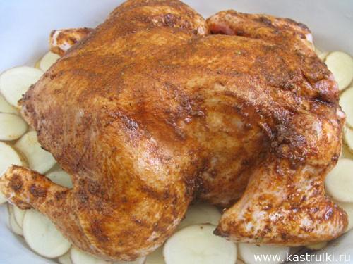 Курица, запеченная с паприкой