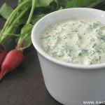Соус из кресс-салата и редиски