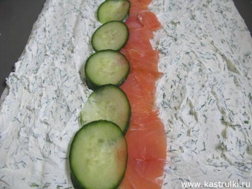 Рулет из сыра и рыбы пошаговый рецепт