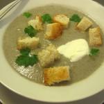 Протертый грибной суп