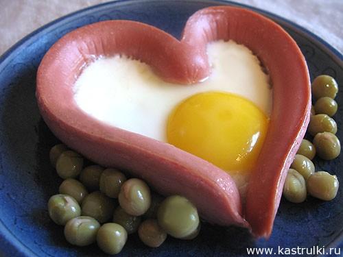 Яичница-сердечко