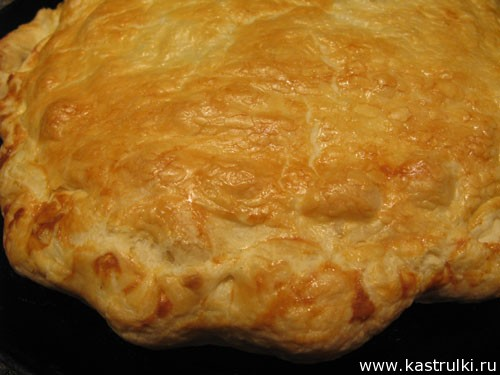 Пирог с сыром бри
