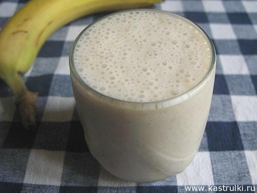 Бананово-карамельный коктейль