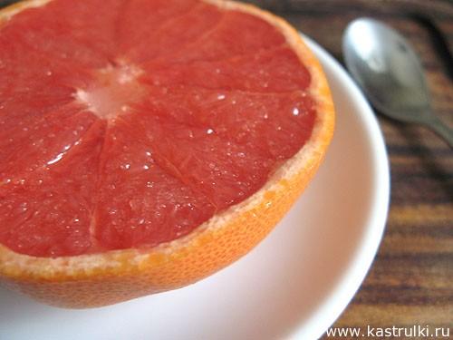 Грейпфрут с сахаром