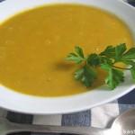 Тыквенный суп-пюре с помидорами