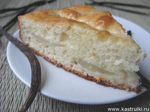 Ванильный пирог с грушами